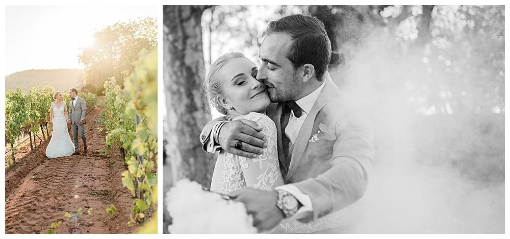 fumigène séance couple de mariés