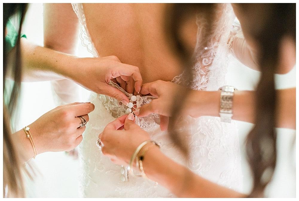 robe de mariée au Château des Demoiselles