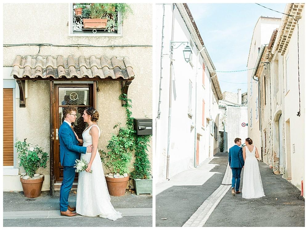mariés dans un village du sud