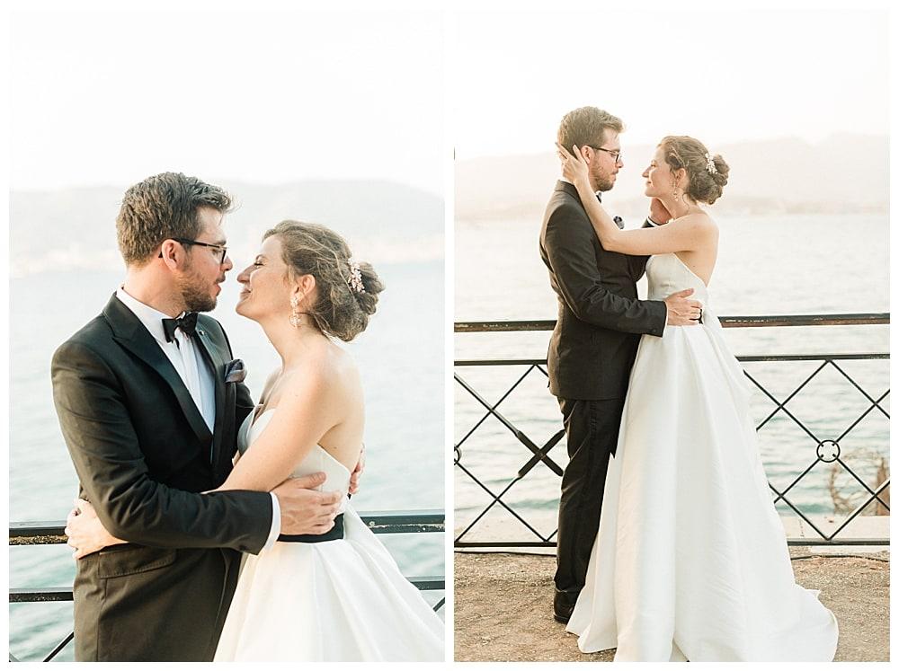 séance couple de mariés sur la cote d'azur