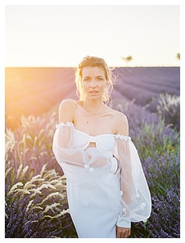 mariée lavandes